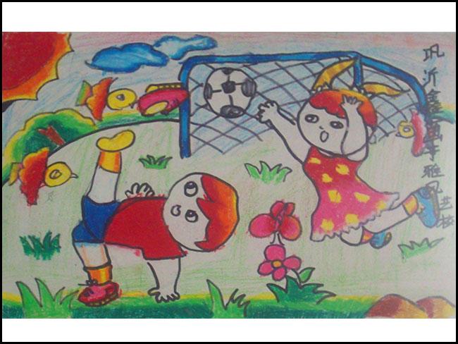 我的小学校园儿童画